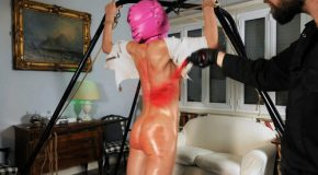 Night Assault Bullwhipping - Nataly Gold